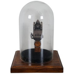Antique Sterling Silver Judaica Marriage Wedding Prayer Ring Jewish Besamim Box