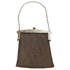 Antique Sterling Silver Mesh Purse Handbag Estate Find