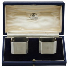 Antique Sterling Silver Napkin Rings, 1939