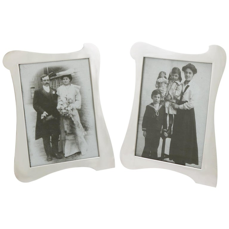 Antique Sterling Silver Photograph Frames For Sale