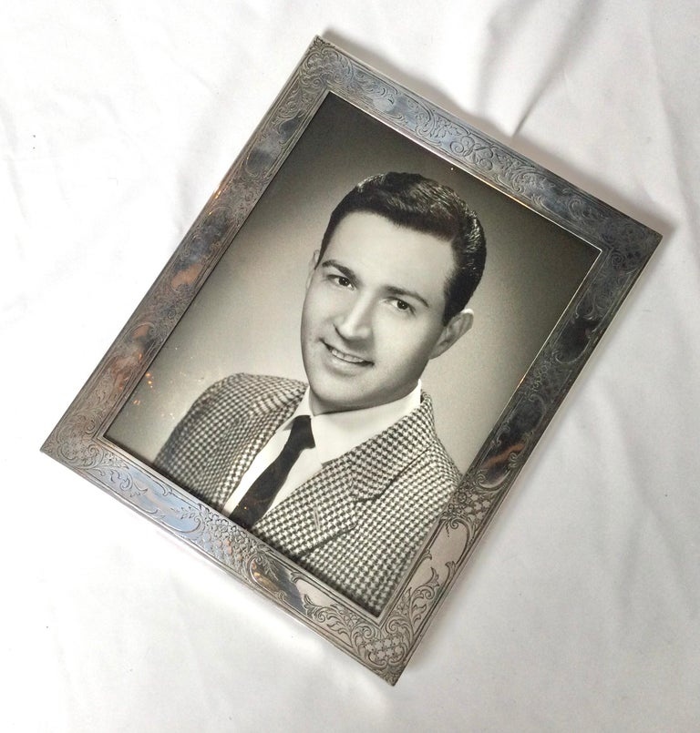 Antique Sterling Silver Picture Frame by Baily Banks and Biddle, Philadelphia In Excellent Condition In Lambertville, NJ