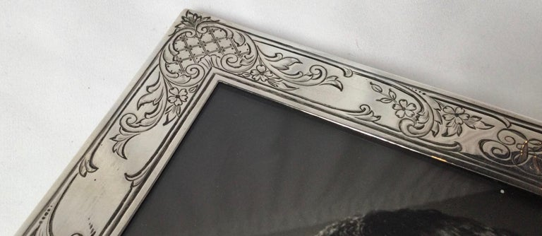 Antique Sterling Silver Picture Frame by Baily Banks and Biddle, Philadelphia 3