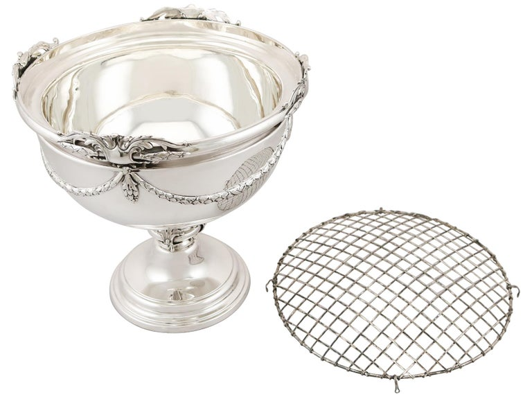 Early 20th Century Antique Sterling Silver Presentation Bowl, 1924 For Sale