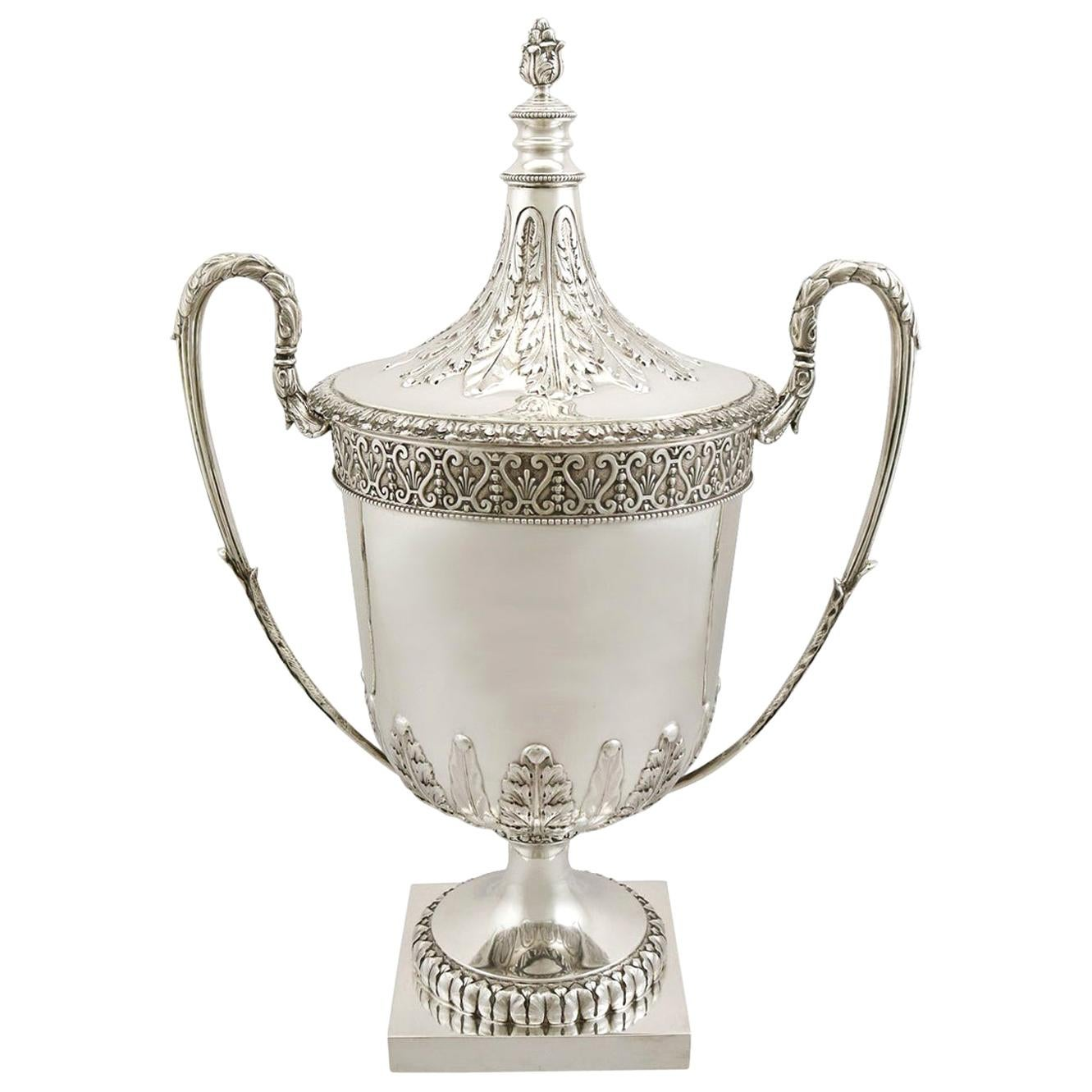 Antique Sterling Silver Presentation Cup and Cover by C S Harris & Sons