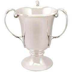 Antique Sterling Silver Presentation Cup / Bottle Holder