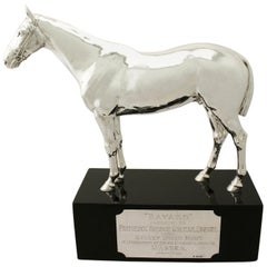 Antique Sterling Silver Presentation Horse by Edward Barnard & Sons Ltd.
