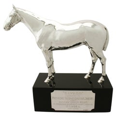 Antique Sterling Silver Presentation Horse by Edward Barnard & Sons Ltd