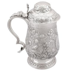 Antique Sterling Silver Quart and a Half Tankard, 1820