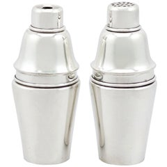 Antique Sterling Silver Salt and Pepper Set by Levi & Salaman