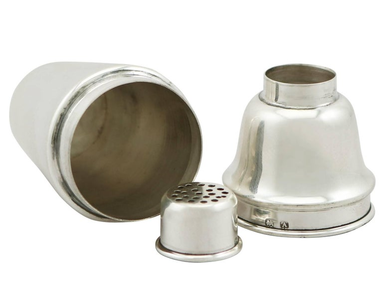 Early 20th Century Antique Sterling Silver Salt and Pepper Set by Levi & Salaman For Sale