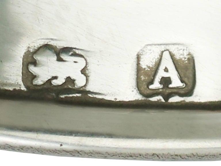Antique Sterling Silver Salt and Pepper Set by Levi & Salaman For Sale 1