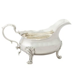 Antique Sterling Silver Sauceboat / Gravy Boat