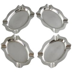 Antique Sterling Silver Set of 4 Ash Trays, Birmingham, 1933