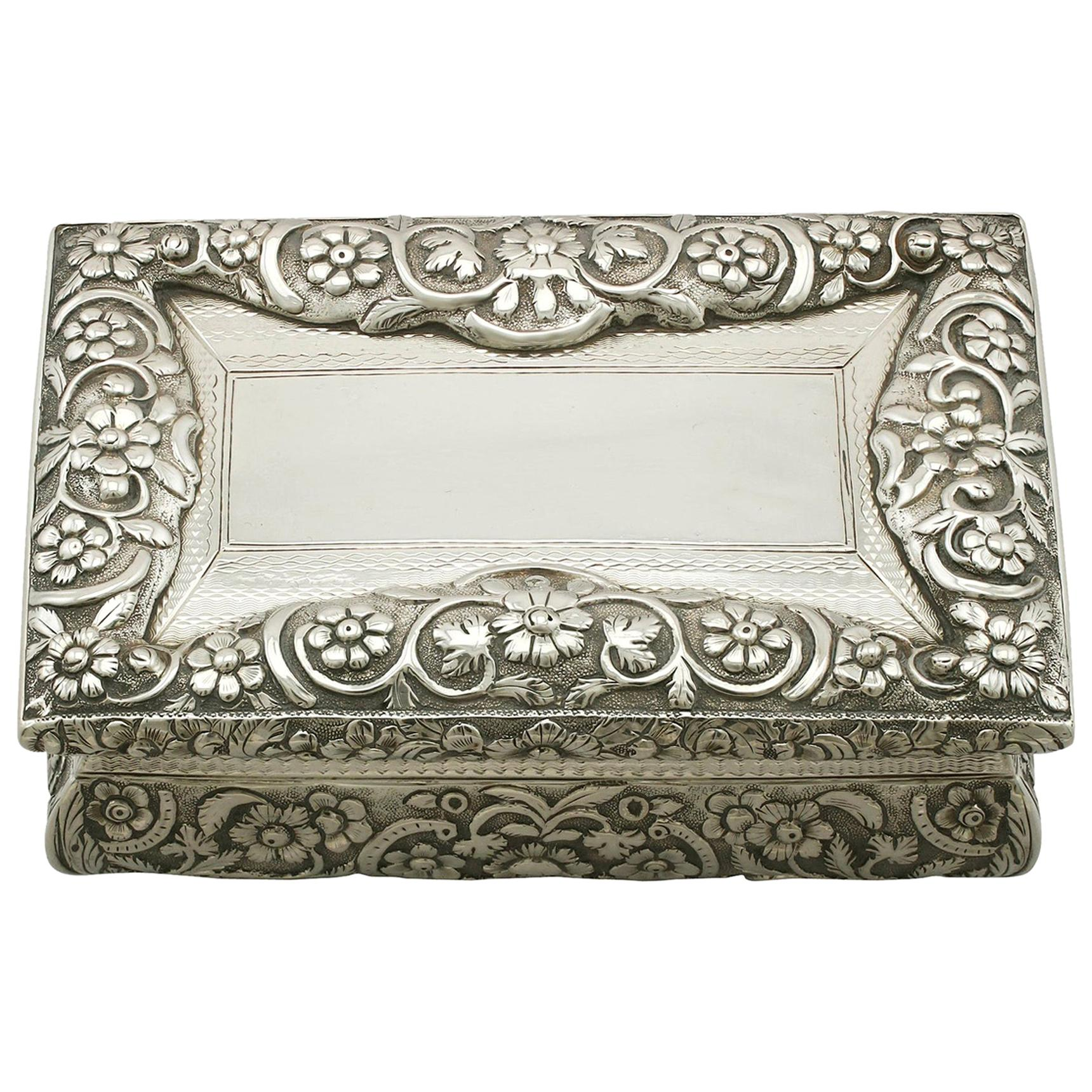 Antique Sterling Silver Table Snuff Box
