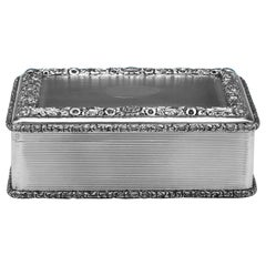 Antique Sterling Silver Table Snuff Box from 1911 by D. & J. Wellby