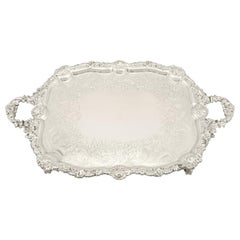 Antique Sterling Silver Tea Tray, 1824