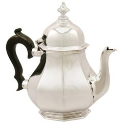 Antique Sterling Silver Teapot, 1919