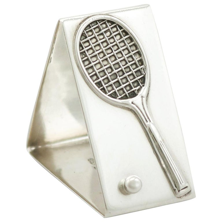 Antique Sterling Silver Tennis Napkin Ring For Sale