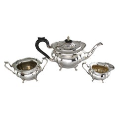 Antique Sterling Silver Three-Piece Tea Service Set, Birmingham, 1924