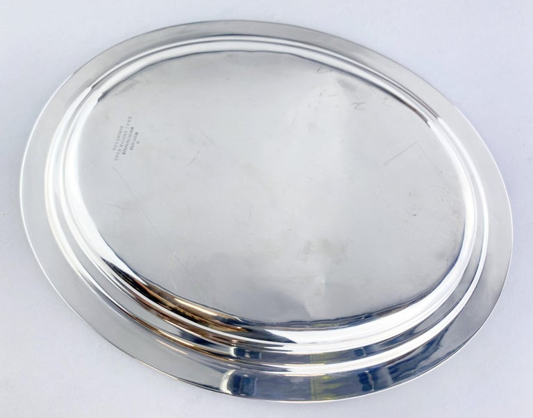 Late 19th Century Antique Sterling Silver Tiffany & Co Tray, USA, circa 1892 For Sale