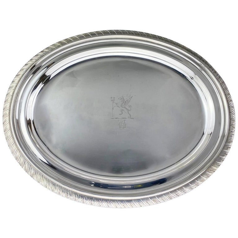 Antique Sterling Silver Tiffany & Co Tray, USA, circa 1892 For Sale