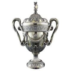 Antique Sterling Silver Trophy Cup, Carrington & Co, Birmingham, 1922