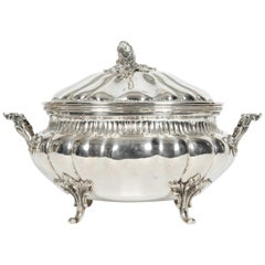 Antique Sterling Silver Two Piece-Covered Tureen