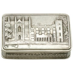 Antique Sterling Silver Vinaigrette by Nathaniel Mills