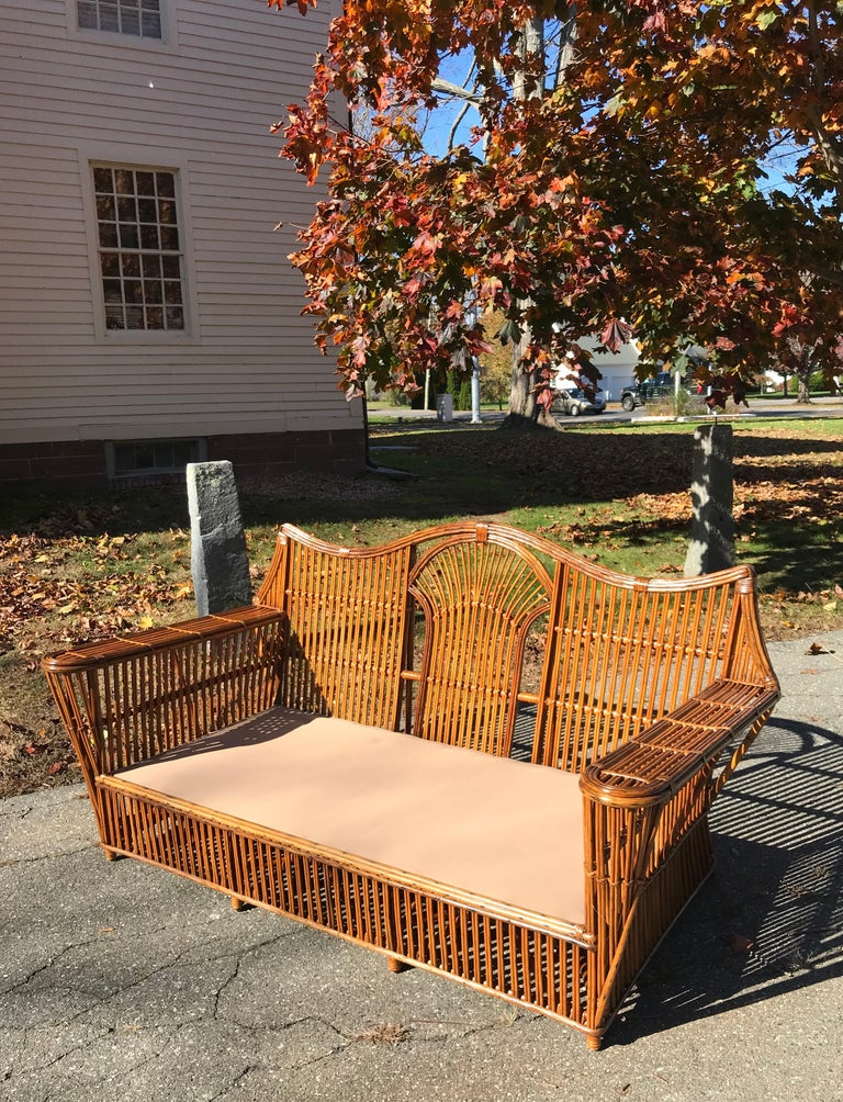 Antique Stick Rattan Set In Good Condition For Sale In Old Saybrook, CT