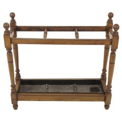 Antique Stick Stand, Victorian Oak Umbrella Stand, Scotland 1895, B1897
