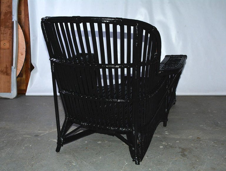 Antique Stick Wicker Chaise For Sale 6