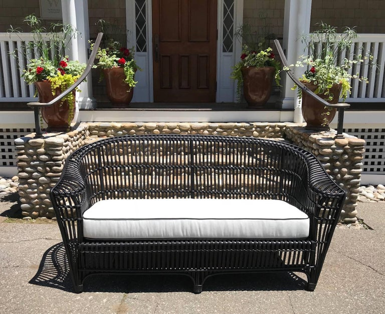 American Antique Stick Wicker Set For Sale