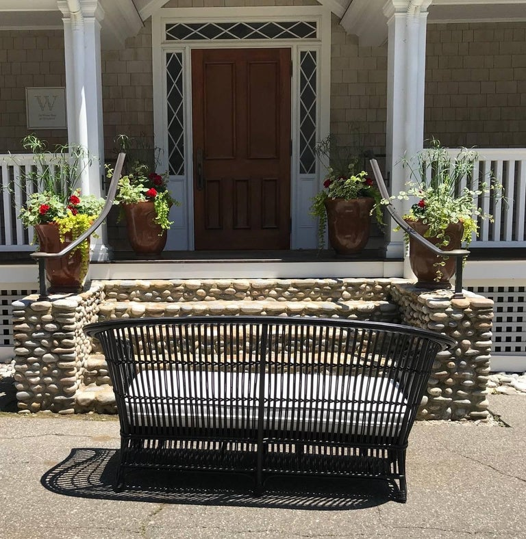 Antique Stick Wicker Set In Excellent Condition For Sale In Old Saybrook, CT