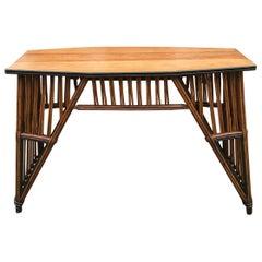 Antique Stick Wicker Sofa Table