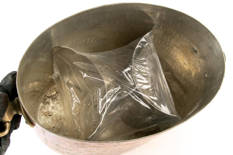 Antique STL French Copper Oval Ice Bucket For Sale 1