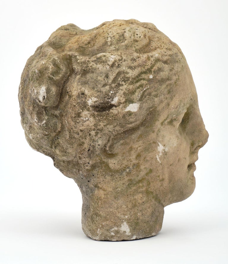 Antique Stone Bust of Athena In Good Condition For Sale In Austin, TX