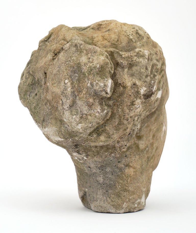 1910s Antique Stone Bust of Athena For Sale