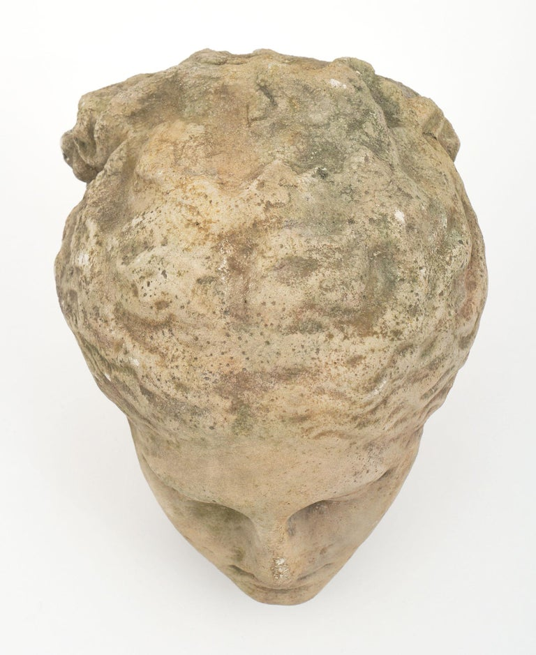 Antique Stone Bust of Athena For Sale 3