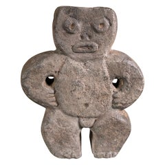 Antique Stone Ceremonial Mapuche Idol Figure from Old Chile
