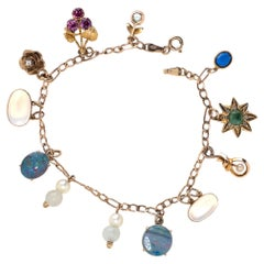 Antique Stone Charm Bracelet