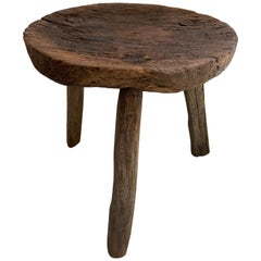 Antique Stool from Mexico, circa Early 20th Century