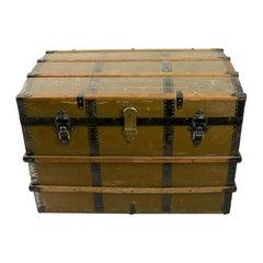 Antique Storage Trunk Stemship Stagecoach Luggage from Saratoga NY