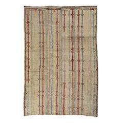 Antique Striped Turkish Jajim Rug