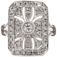 Antique Style 0.50 Carat Diamond Cocktail Ring