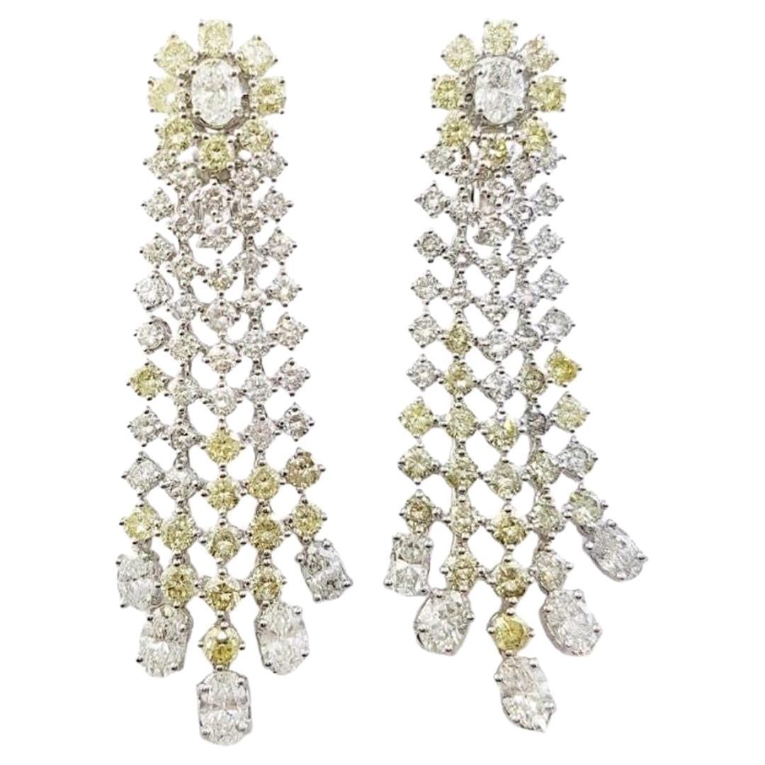 Antique Style Chandelier Diamond Earrings