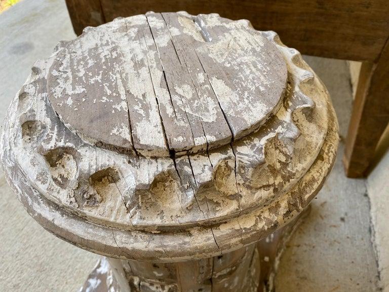 Antique Style Column Wood Pedestal Plinth For Sale 1