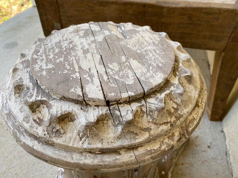 Antique Style Column Wood Pedestal Plinth For Sale 2
