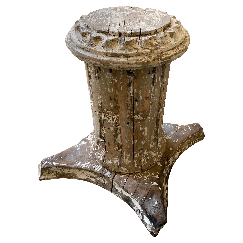 Antique Style Column Wood Pedestal Plinth