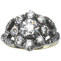 Antique Style Diamond Cluster Ring