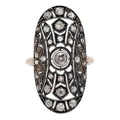 Antique Style Diamond Dinner Ring